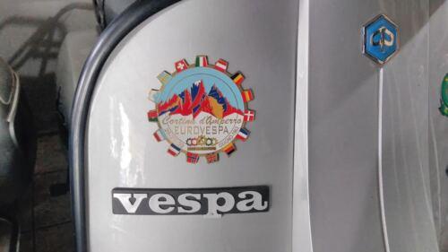 PLACCA VESPA CORTINA D/'AMPEZZO EUROVESPA 1963 FERMA CARTE PIAGGIO ITALY CLUB