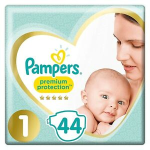 Pampers-Premium-Protection-88-Couches-Bebe-Taille-1-2-a-5kg-Lot-de-2-x-44