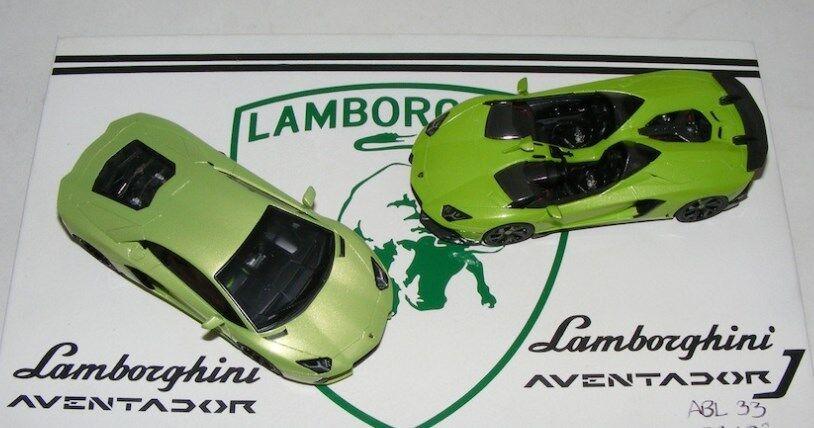 Lamborghini J Aventador Itacha Grün 2 car SET model cars 1 43 ABL33 LookSmart