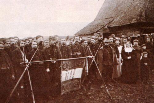 WW1 Photo Le 4ème Régiment de Zouaves en Belgique