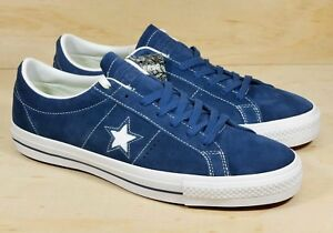 cce230c69c1ea0 Converse One Star Suede Skate Blue White Mens Sz 11.5 Shoes 149867C ...