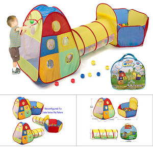 Image is loading 3-in-1-Playhut-Indoor-&-Outdoor-Play-  sc 1 st  eBay & 3 in 1 Playhut Indoor u0026 Outdoor Play Tent Tunnel Kids Boys Girls ...