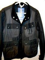 Barbour White Mountaineering Kirknasu Wax Cotton Jacket Uk Large $549 Black
