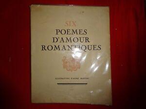 Détails Sur Anonyme Six Poèmes Damour Romantiques
