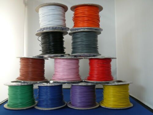2 metres Solid Core 1//0.6 Hook Up//Equipment Wire 11 colours