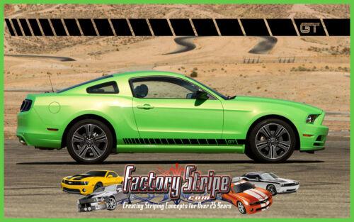 FORD MUSTANG STROBE GT LOWER  ROCKER PANEL SIDE DECALS FACTORY STRIPE 2005-2013