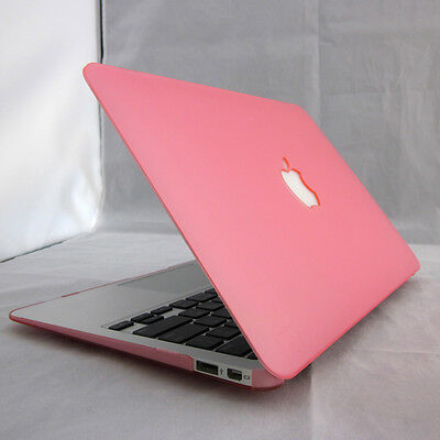 "11"" 13"" 15"" Pink Rubberized Matt Hard Case Cover Skin For MacBook AIR White PRO"