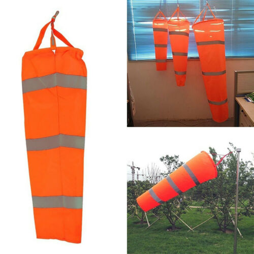 CN/_ 0.8m//1m//1.5m Aviation Airport Paraglide Windsock Reflective Wind Indicato