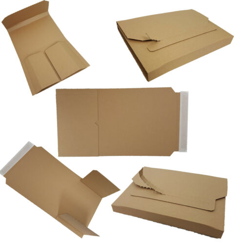 Buchverpackung Versandkarton Wickel Verpackung Buchkarton Briefkarton Braun