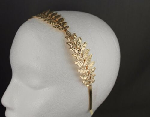 Gold shiny Laurel Leaf branch crown Leaves headband hair band greek toga costume