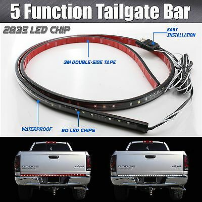 "60"" High Power 5-Function LED Strip Tailgate Bar Brake Signal Light Truck SUV"
