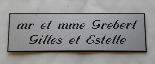 Custom engraved plate box letter or door 2 lines size 29x100 mm