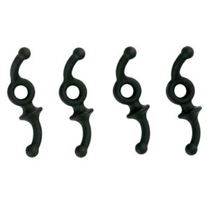 4-pk-APEX-Double-Down-black-rubber-Archery-bow-hunting-string-silencers-AG460B