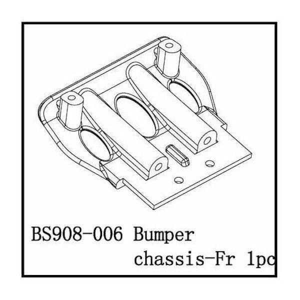 Redcat Racing Front Bumper Bottom Bracket Caldera Bs908 006
