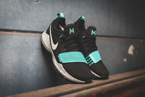 11afcc77dff0 Nike PG 1 Basketball Shoes Paul George Black Bone Aqua 878627-002 ...