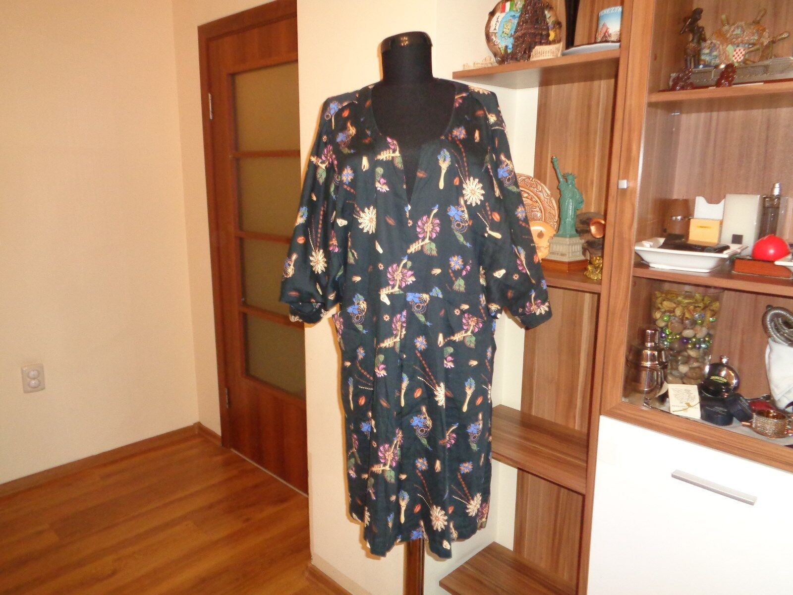 HOPE BY RINGSTRAND SODERBERG MULITcolorD FLORAL LAGENLOOK BATWING SLEEVES TUNIC