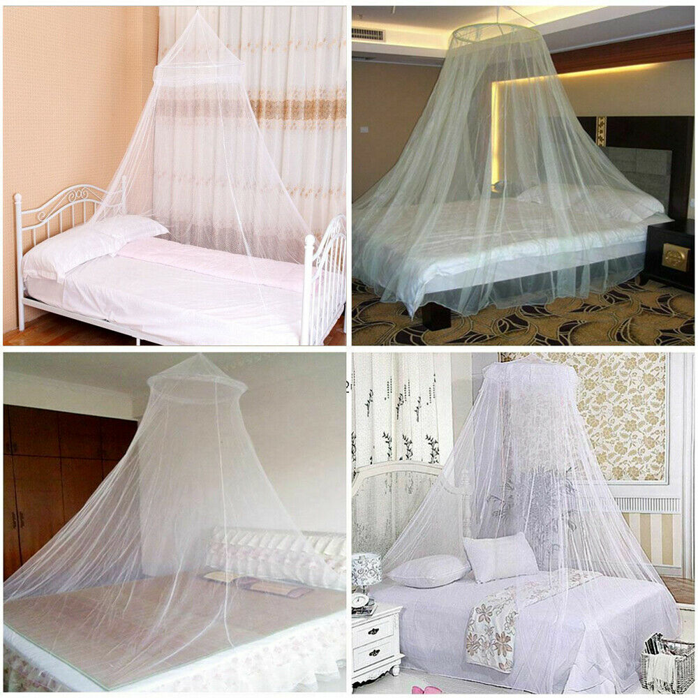 White Mosquito Net Fly Insect Protection Single Entry Double King Size Canopy ÖÖ