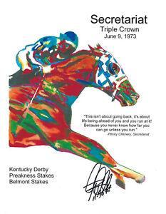 Secretariat Thoroughbred Triple Crown Horse Racing Print Poster Wall Art 8.5x11