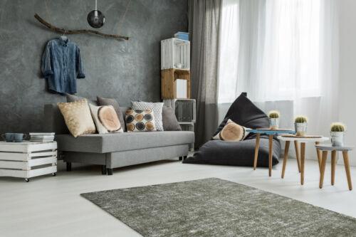 Farben Teppich Vintage Design Used Look Modern Handgefertigt Versch