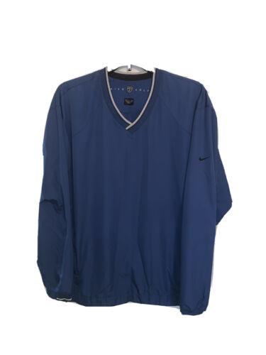 Nike Golf Men's Blue V-Neck Long Sleeve Wind Shirt