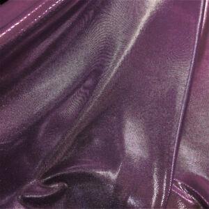 "Metallic shiny wet look Lycra microdot lame fabric Strech 58"" wide Dress Dance"