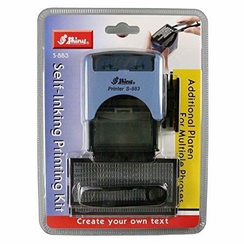 Shiny Self Inking Custom Text Printing Kit DIY S-883
