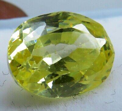 6.65 Ct Natural Ceylon Yellow Sapphire Oval Shape Loose Gemstone.H 400