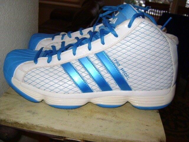 Adidas Basketball PRO Model 2010 LUX Bright Blue/White Size 14 PROMO PE