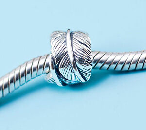 Genuine-925-Sterling-Silver-charm-bead-angel-wings-feather-fits-bracelets-AUM-SS