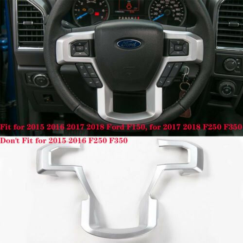 Silver ABS Car Steering Wheel Trim Frame Cover For Ford F-150 2015 2016-2018