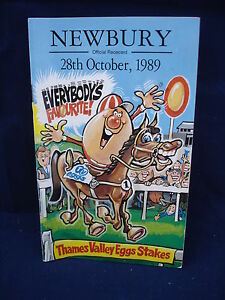 Horse-racing-Race-Card-Newbury-28th-October-1989-Thames-Valley-Eggs-stake