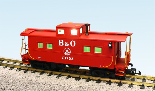 USA Trains 12152 G Scale Center Cupola Caboose Baltimore & Ohio rosso