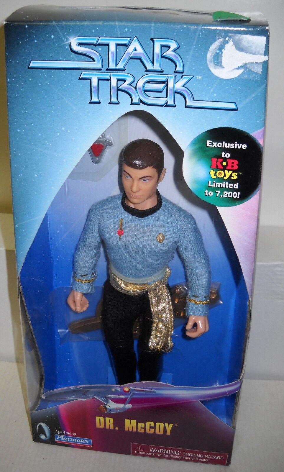 5558 nunca quitado de la Caja Jugarmates Kay Bee Juguetes Estrella Trek Dr McCoy