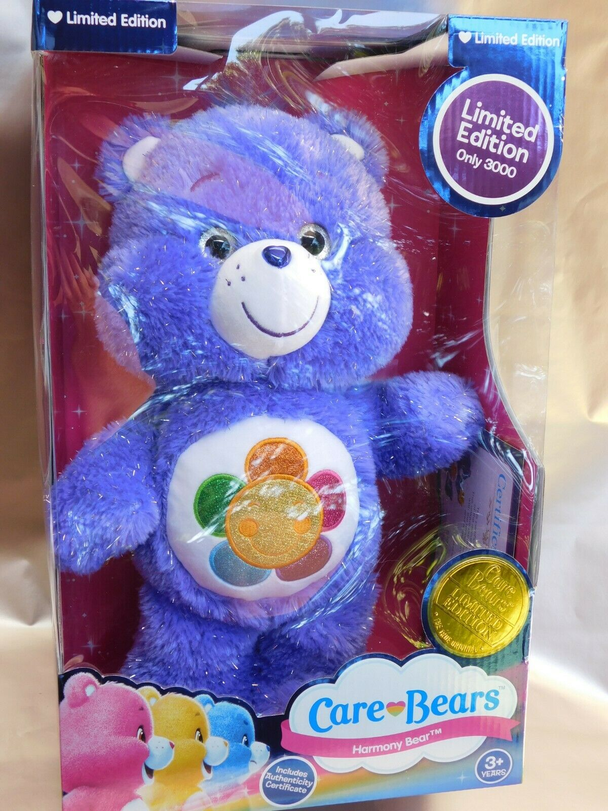 Collectible Limited Edition Certificate Harmony Care Bears 2133 of 3000 NEW TOY