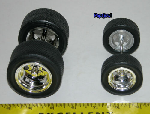 Muscle Machines Parts Wheels /& Tires ONLY For Customizing Car Builders RC 1:18 W