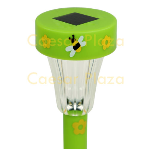 24 Pack Color Outdoor Garden White LED Solar Landscape Path Light Yard Lawn Lamp