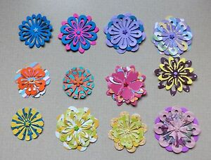 12 handmade layered paper flowers scrapbook layouts card making home image is loading 12 handmade layered paper flowers scrapbook layouts card mightylinksfo
