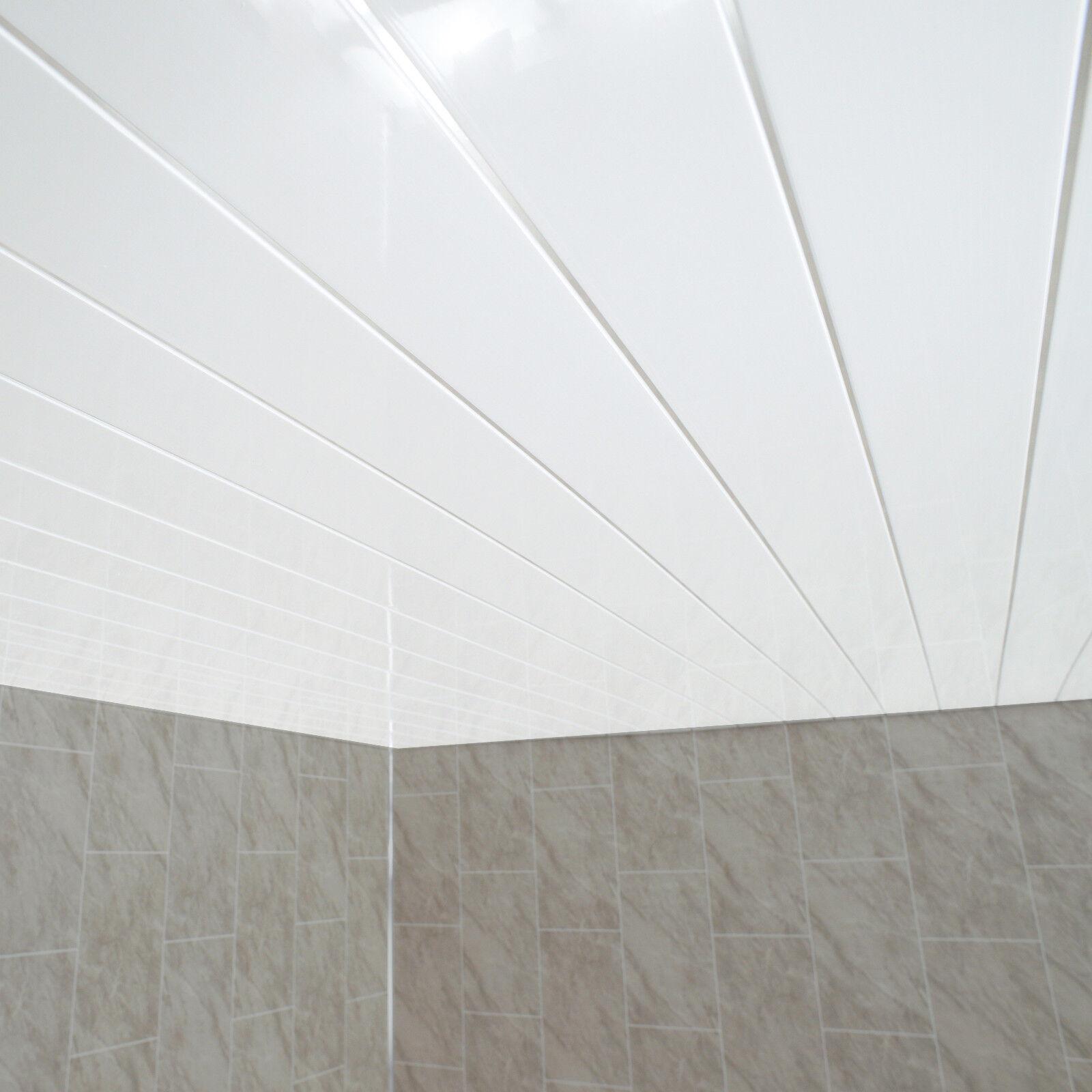 Gloss White Chrome Strip Bathroom Wall