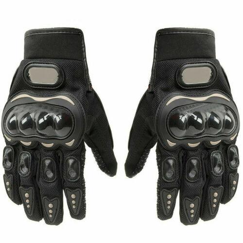1Paar Motorrad Handschuhe Herren Leder Motorrad Abriebfest Stretch Knöchelschutz
