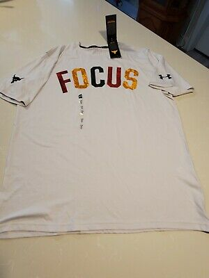 Men/'s under armour projet Rock Mahalo Focus T-shirt Taille moyenne #1351584-110