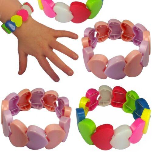 12 x Herz Armbänder für KinderKinderschmuckNEU German Trendseller®