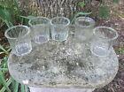 Pot/pots à confiture en verre à facette, ancien,lot de cinq