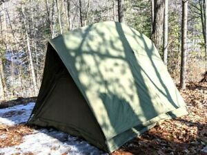 Canadian-Military-4-Man-RECCE-crew-Tent-Surplus-Camping-with-frame-amp-fly
