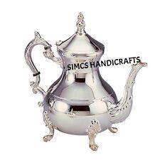 Luxury Chrome Plated Brass Moroccan Teapot Coffee Kettles  850 ML Serveware