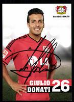 Giulio Donati Autogrammkarte Bayer Leverkusen 2014-15 Original  + A 99794