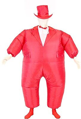 Adult Chub Suit Inflatable Blow Up Color Dress Party Tuxedo Tux Jumpsuit Costume