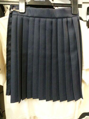 blue navy or black Falcon girls pleated school skirt