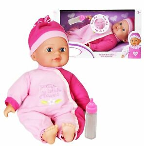 """12"""" Baby Doll with Sounds New Born Soft Bodied Doll Girls Pretend Play Toy 5060353223841"""