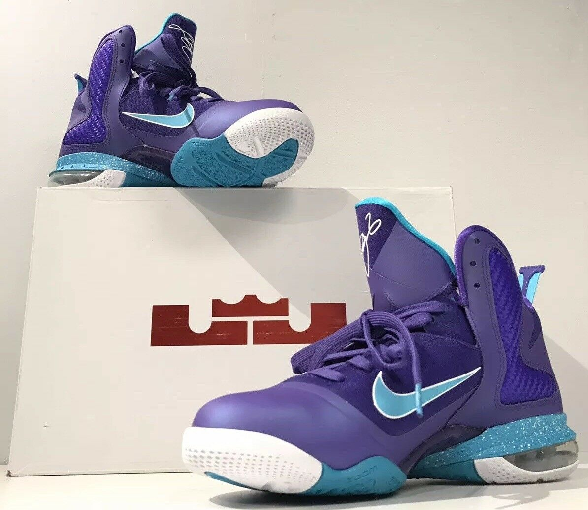 hot sale online f6ea9 f1966 Nike LeBron 9  Summit Lake Hornets  Basketball shoes shoes shoes Sneakers -  Size 8.5