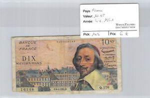 France 10 Nf Francs 6.4.1961 Pick 142 Q.176